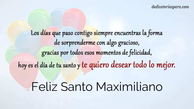 Feliz Santo Maximiliano