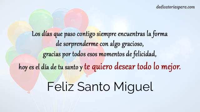 Feliz Santo Miguel