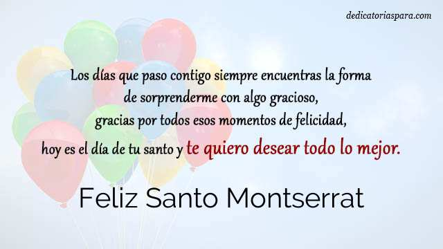Feliz Santo Montserrat