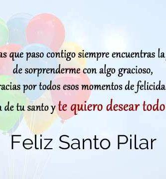 Feliz Santo Pilar