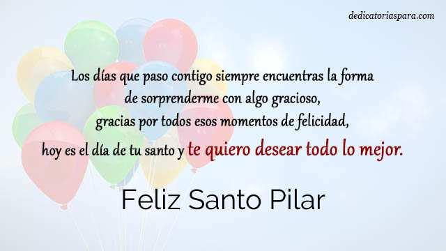 Feliz Santo Pilar 12 De Octubre Frases Y Mensajes
