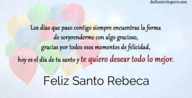 Feliz Santo Rebeca