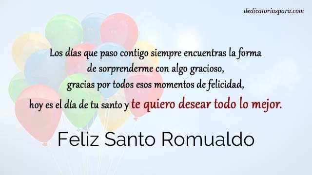Feliz Santo Romualdo
