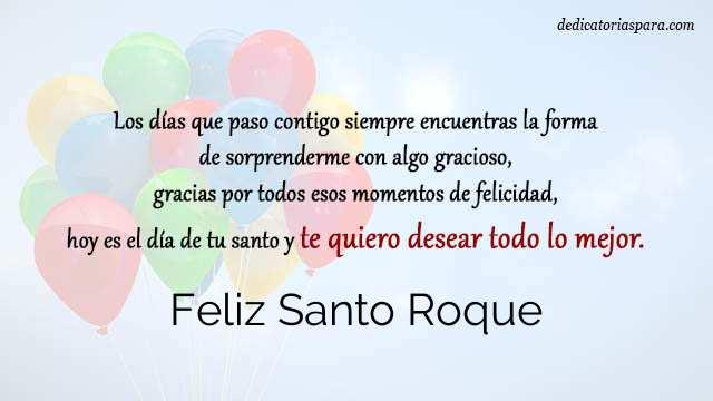 Feliz Santo Roque