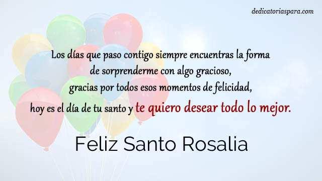 Feliz Santo Rosalia