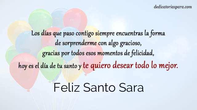 Feliz Santo Sara