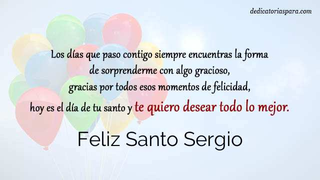 Feliz Santo Sergio