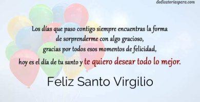 Feliz Santo Virgilio