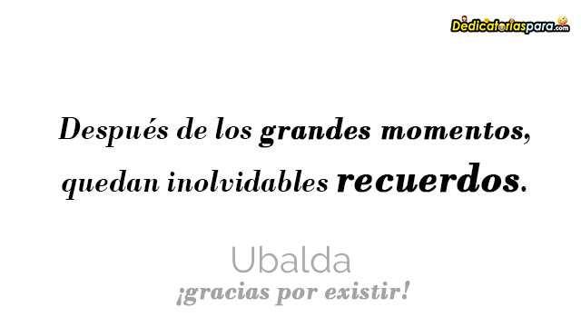 Ubalda